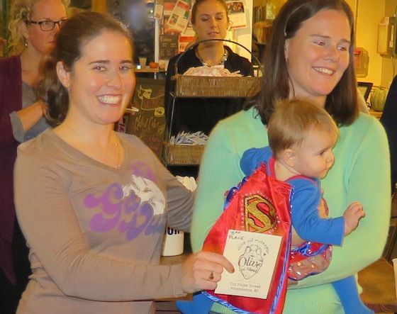 Jenna Lafayette and Kimberly Aherne with Quinn.