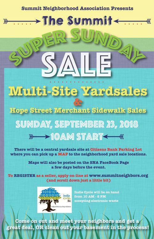 SNA Yard Sale